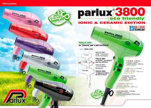Secador De Pelo Parlux 3800 Profesional Peluqueria Original 868297cdb6e8